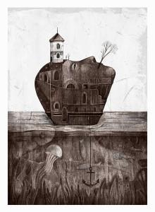 Ostrov s kotva, Lilyana Dvoryanova, exhibition @ ETUD gallery, 2019